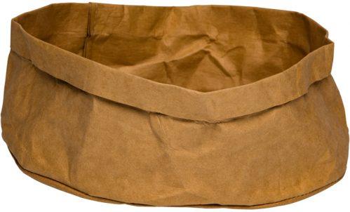 Broodmand papier wasbaar bruin 27 x 27 x 12