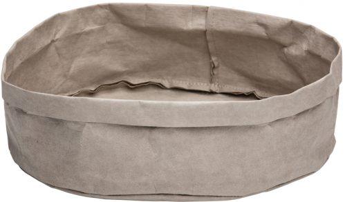 Broodmand papier wasbaar grijs 27 x 27 x 12