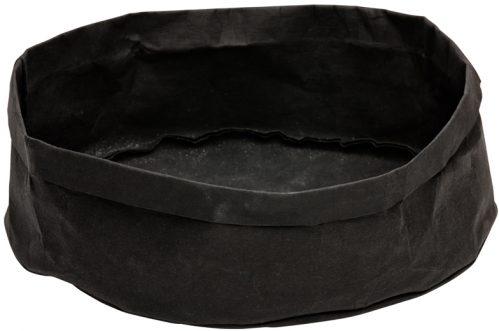 Broodmand papier wasbaar zwart 33 x 33 x 12