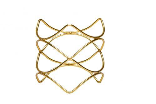 Buffetverhoger anti-slip goud 21x21x20 (Set van 6)
