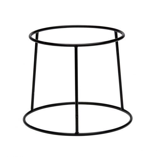 Buffetverhoger anti-slip zwart 25x21x15 (Set van 6)