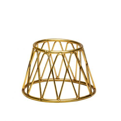 Buffet verhoger kroon goud 15X10X10 (Set van 6)