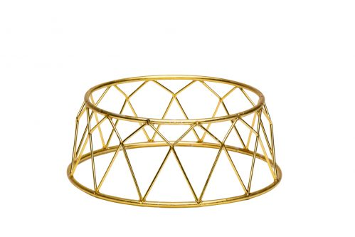 Buffet verhoger kroon goud 25X12X10 (Set van 6)