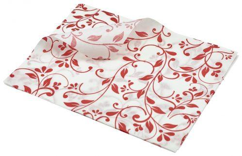 Vetvrij papier rood bloemen 25 x 20cm 1000st