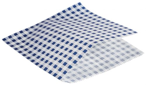 Vetvrij papier blauw geblokt puntzak 17,5cm 1000st