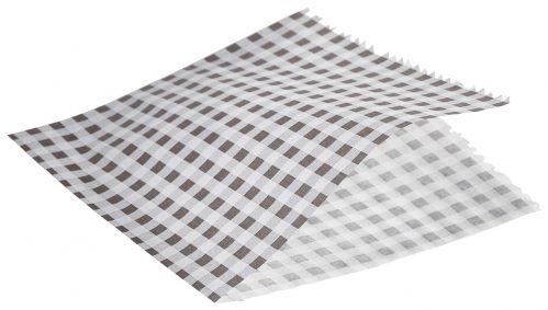 Vetvrij papier zwart geblokt puntzak 17,5cm 1000st
