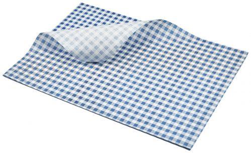 Vetvrij papier blauw geblokt 35 x 25 cm 1000st