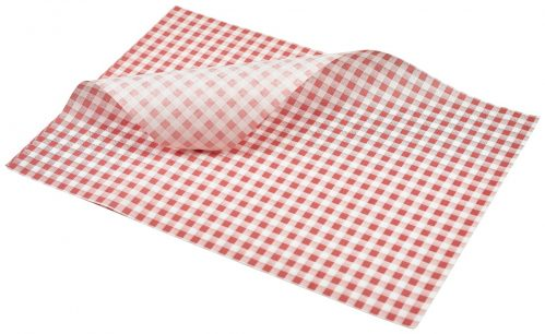 Vetvrij papier rood geblokt 35 x 25 cm 1000st
