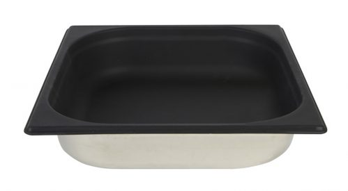 Gastronormbak Sllicone 1/2 GN 65mm Diep Zwart