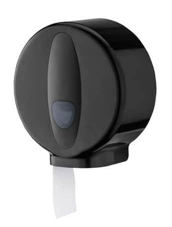 Jumboroldispenser mini kunststof zwart
