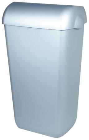 PlastiQline afvalbak kunststof RVS look 23 liter open