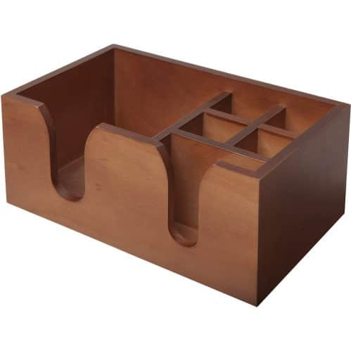 Bar Caddy Wood Walnut 6-prt