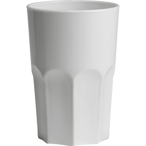 Glass Granity 40cl White Plastic (Set van 5)