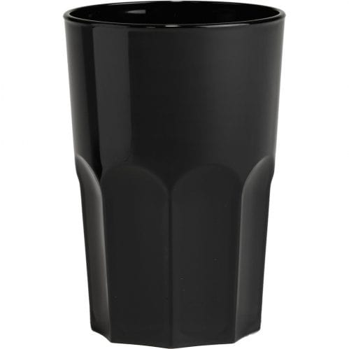 Glass Granity 40cl Black Plastic (Set van 5)