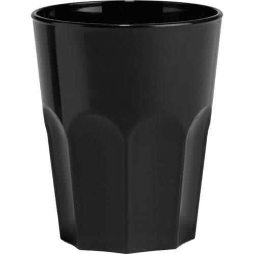 Glass Rox 30cl Black Plastic (Set van 8)