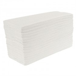 Handdoekjes Jantex C-vouw 2lg wit 24 x 100st