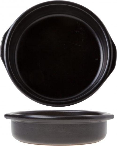 Creme Brulee Zwart D17 x h3Cm (Set van 8)
