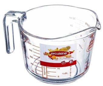 O.Cuisine Maatkan glas helder 1 liter (Set van 6)
