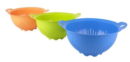 Vergiet 26 cm rond assorti groen/blauw/oranje