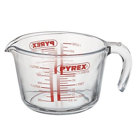 Maatbeker 1 Liter Helder Pyrex