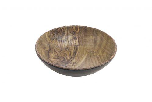 Transform Schaal bol 25,5 cm hout/zwart Melamine (Set van 6)