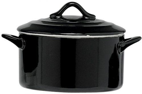 Black Ovenschotel Met Deksel 0,5L D12,5 x  (Set van 4)