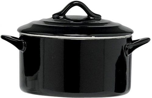 Black Ovenschotel Met Deksel 1L D17 x h8Cm (Set van 4)
