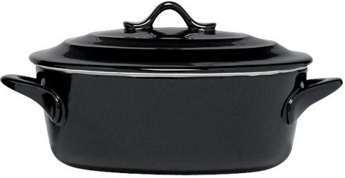Black Ovenschotel Met Deksel 0,5L D16,5 x  (Set van 4)