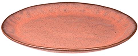 Rustique Bord 28 Cm Rood (Set van 6)