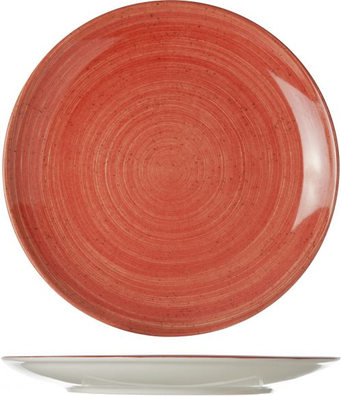 Twister Red Plat Bord D27Cm (Set van 12)