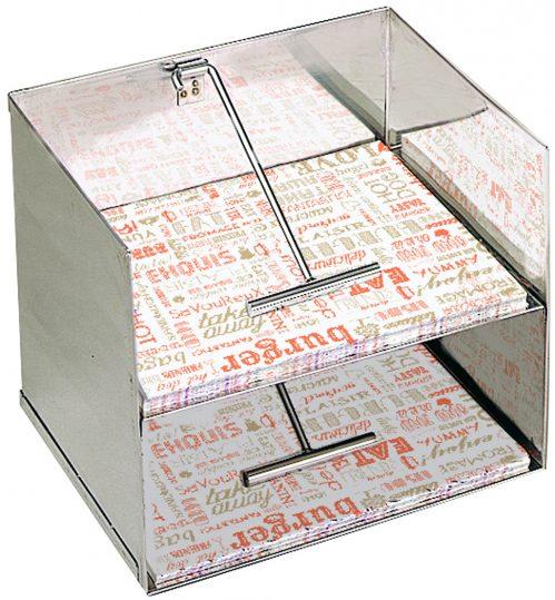 Dispenser 2-laags voor max.36x29cm vetvrijpapier