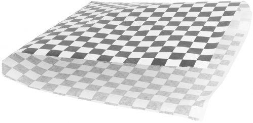 "Vetvrijpapier zak""Cubes black/white""18x17cm 500pak"