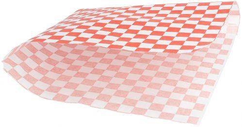 """Vetvrij papier zak""""Cubes red/white""""18x17cm 500-pak"""