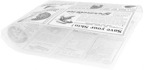 "Vetvrij papier zak""Newspaper white""18x17cm 500-pak"