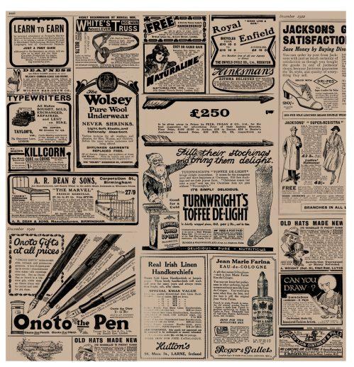 "Vetvrij papier ""Newspaper brown"" 34x28cm 1000-pak"