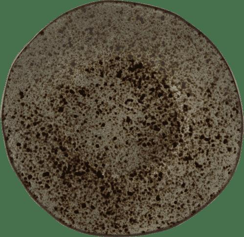 Q Authentic Stone Black bord 16 cm (Set van 8)