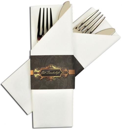 Servet insteek / Napkin Sleeve Airlaid – Wit/Grijs (Set van 300 Stuks)