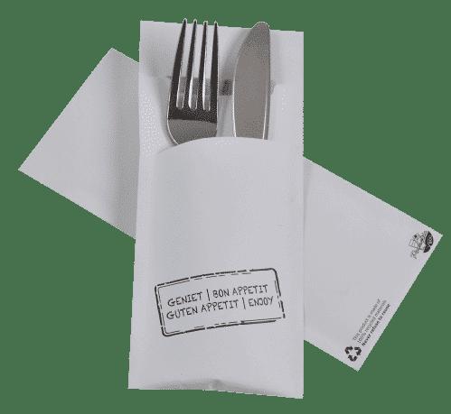 Servet Pochette / Bestekzakje ECO 3 (Set van 520 Stuks)