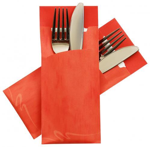 Servet Pochette / Bestekzakje Oranje (Set van 520 Stuks)
