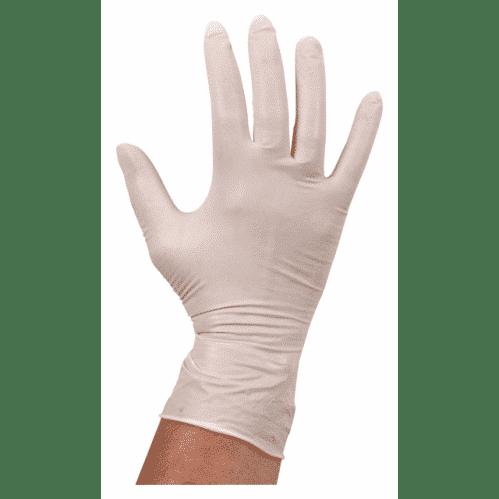 Handschoen Latex Ongepoederd – Wit L (Set van 100)