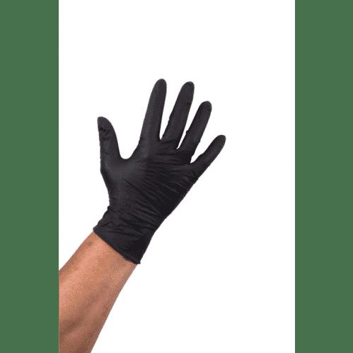 Handschoen Nitril Ongepoederd – Zwart S (Set van 100)