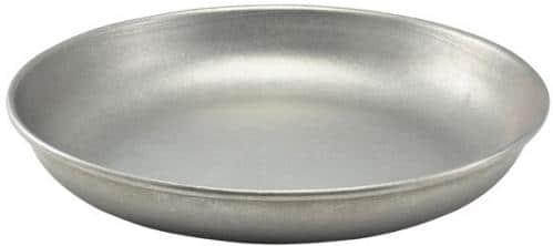 Vintage staal bord diep 20cm