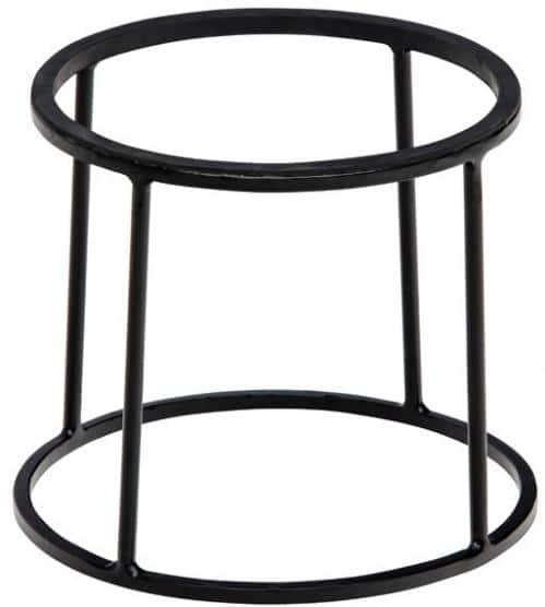Zwarte buffetverhoger 22/24 x20 cm