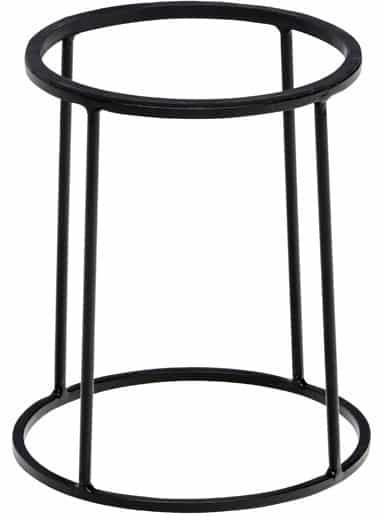 Zwarte buffetverhoger 22/24 x28 cm