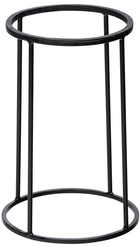 Zwarte buffetverhoger 22/24 x36 cm