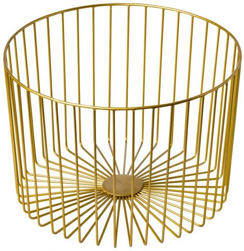 Stalen presentatiemand goud 33x23x33 cm