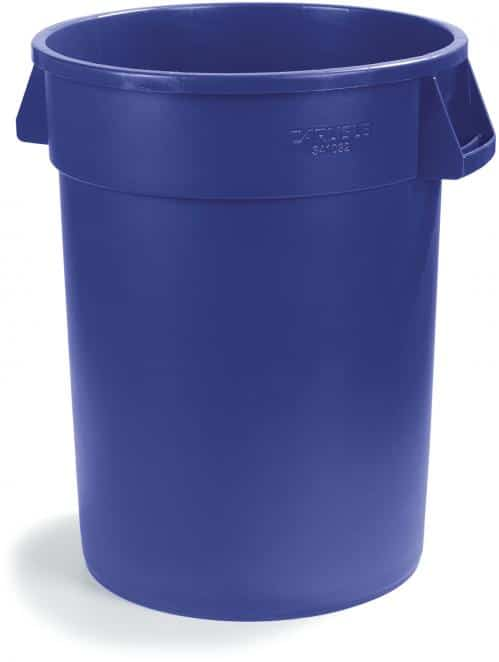 Afvalbak 76 liter blauw Bronco (Set van 6)
