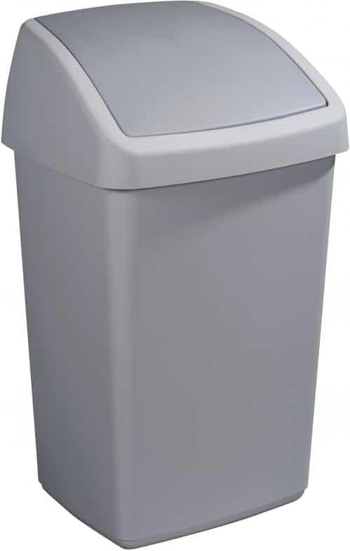 Delta Afvalbak 50 liter swing grijs