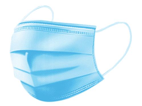 Mondkapje / Mondmasker – 3 Laags – Blauw (Set van 50)