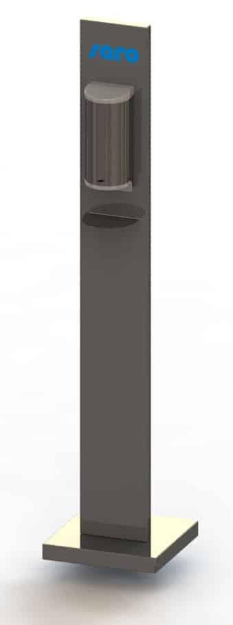 Hygiëne stand – Dispenser voor handdesinfectie (no touch) – RVS